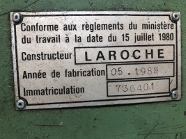 Cutting machine LAROCHE CR 300 CR 300  LAROCHE 1988  Used - Second Hand Textile Machinery