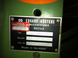 Squeezing padder KUSTERS . .  KUSTERS 1983  Used - Second Hand Textile Machinery