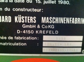 Foulard de laboratoire ou enduction KUSTERS . . KUSTERS 1990 d'Occasion - Machines Textiles de Seconde Main  -