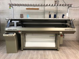 SHIMA SES Flat knitting machine  NSES  SHIMA 1995 / 97  Used - Second Hand Textile Machinery