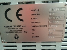 Circular knitting machines COLOSIO RISE TR RISE TR  COLOSIO 2000  Used - Second Hand Textile Machinery