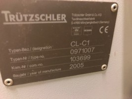 Nettoyeuse ouvreuse TRUTZSCHLER  CL-C1  CL-C1 TRUTZSCHLER 2005 d'Occasion - Machines Textiles de Seconde Main  -