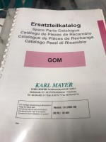 Ourdissoir d echantillonnage KARL MAYER GOM 16 GOM KARL MAYER 2004 d'Occasion - Machines Textiles de Seconde Main  -