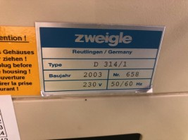 torsiometre ZWEIGLE . . ZWEIGLE 2003 d'Occasion - Machines Textiles de Seconde Main  -