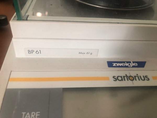 SARTORIUS SCALE - Second Hand Textile Machinery