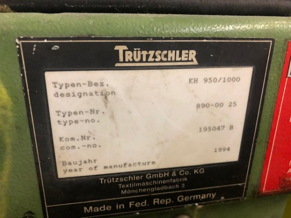 Cotton cards TRUTZSCHLER DK 760 - Second Hand Textile Machinery 1994/1995