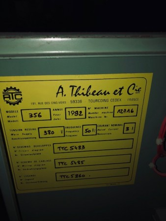 THIBEAU CA6 Wool card  - Second Hand Textile Machinery 1991