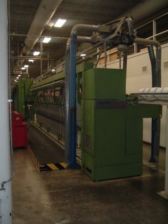GAUDINO FBTE WOOLEN ring frames linked to winder - Second Hand Textile Machinery 1995