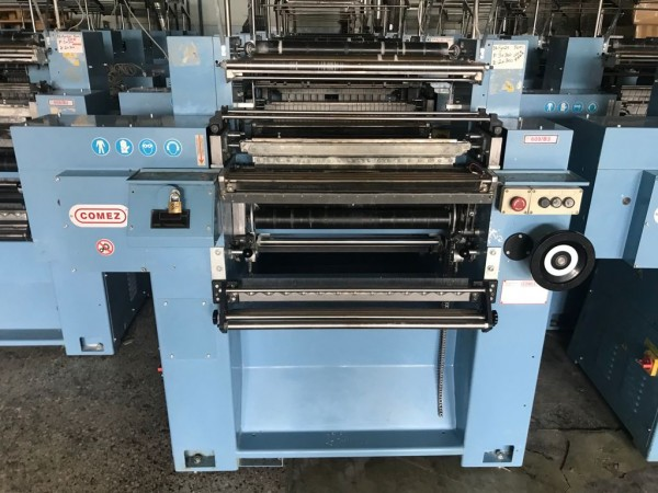 COMEZ 609 Crocheting machine for elastic tapes. - Second Hand Textile Machinery 2014 - 2015
