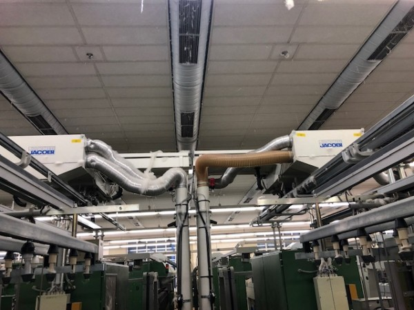 ZINSER Cotton ring frame RM 350 linked autoconer - Second Hand Textile Machinery 2001