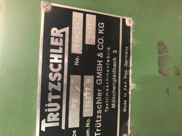 Cotton openers TRUTZSCHLER RV - Second Hand Textile Machinery 1985