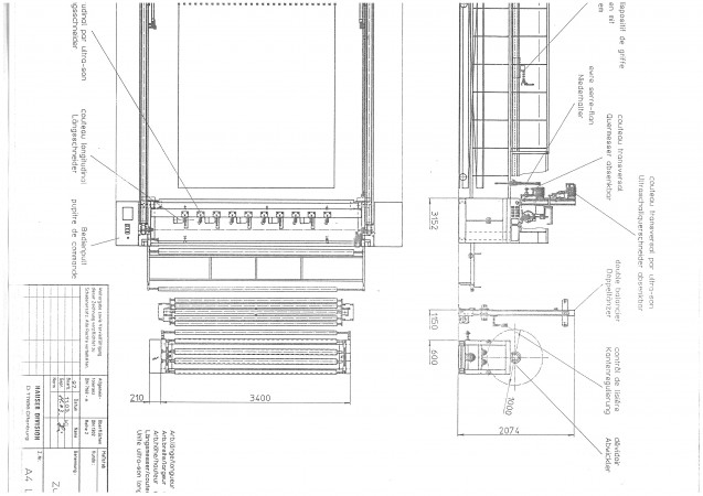 Machine de coupe et empliage HAUSER .  - Occasion 1997