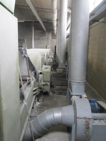 tearing line GAMBA . - Second Hand Textile Machinery 1988/90