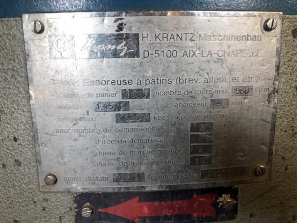 Essoreuse KRANTZ .  - Occasion 1982