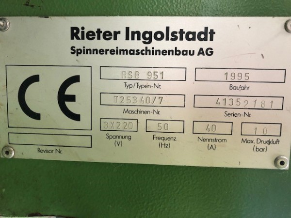 Drawing machines RSB951 RIETER - Second Hand Textile Machinery 1995