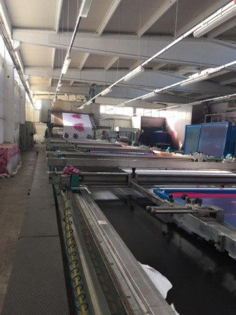 BUSER Flat bed printing machine - Second Hand Textile Machinery 2006