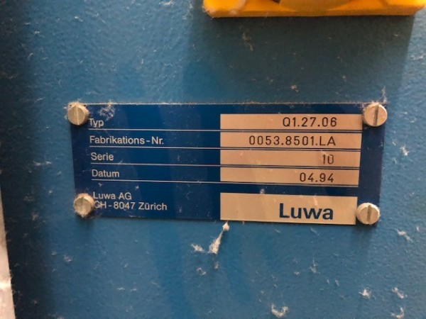 LUWA Filtration installation . - Second Hand Textile Machinery 1994