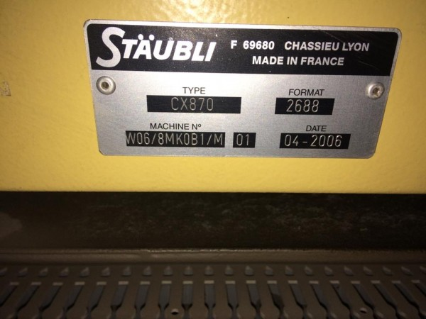 Mécanique Jacquard STAUBLI CX870  - Occasion 2003/2006
