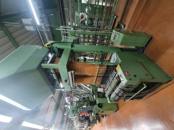 MULLER MVC 150 Label looms  - Second Hand Textile Machinery 1989