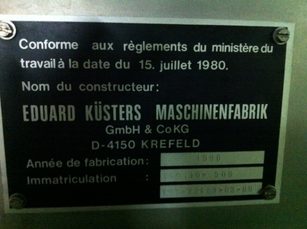 Laboratory Steamer KUSTERS . - Second Hand Textile Machinery 1990