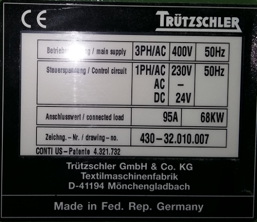 Mixer TRUTZSCHLER MCM8 MIXEMASTER - Second Hand Textile Machinery 1997
