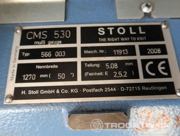 STOLL CMS 530 Flat knitting machine  - Second Hand Textile Machinery 2008