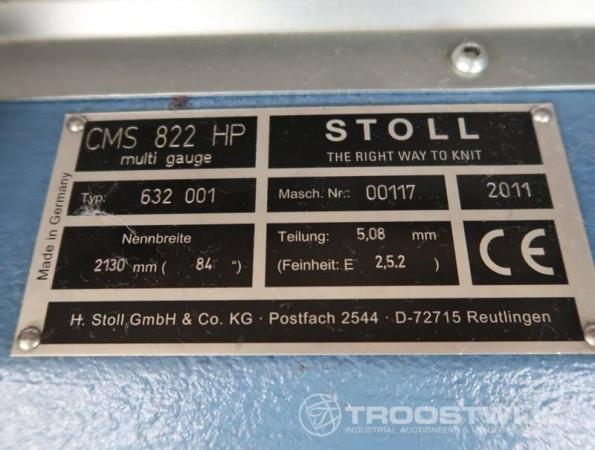 STOLL CMS 822 HP Flat knitting machine - Second Hand Textile Machinery 2011