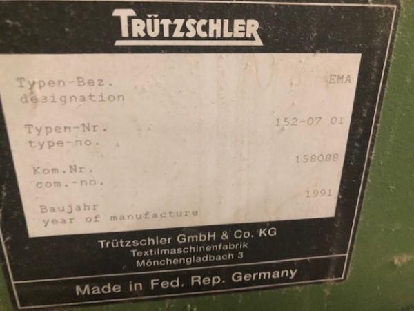TRUTZSCHLER heavy particle separator  - Second Hand Textile Machinery 1991