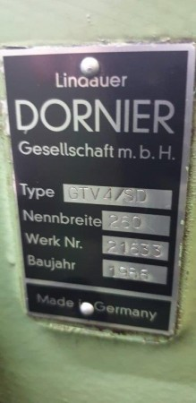 DORNIER GTV Rapier looms  - Second Hand Textile Machinery 1986
