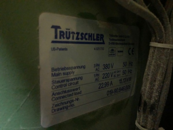 BLENDOMAT TRUTZSCHLER Bale opener  - Second Hand Textile Machinery 2002