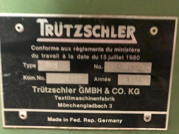 recycling and cleaning line TRUTZSCHLER NUOVA COTONIA . - Second Hand Textile Machinery 1988